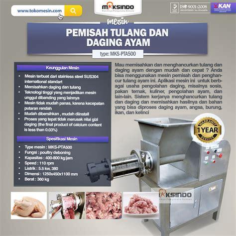 Jual Roti Pakan Ternak Semarang jual pemisah tulang dan daging ayam pta500 di semarang