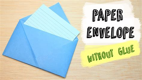 How To Make Adhesive Paper - how to make a paper envelope without glue diy origami