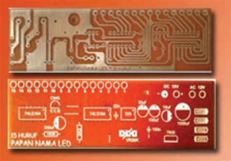 Led Copy Board Papan Pemindah Gambar Led kelas xii materi 3 komponen dan material quot papan nama led quot