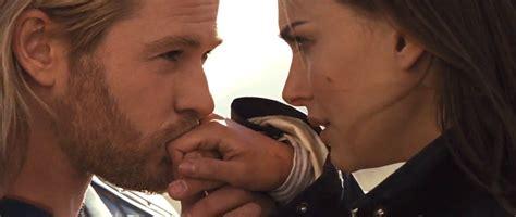 film thor kiss not much more romantic than a hand kiss chris hemsworth