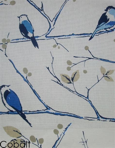 curtain fabric birds blue birds curtain fabric ideas for bedroom pinterest