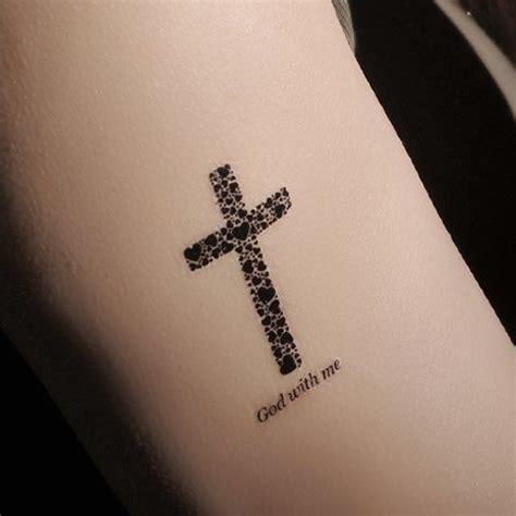 chic waterproof cross hexagram pattern tattoo sticker for