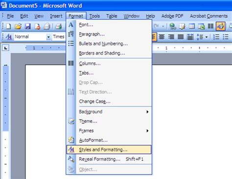 template on microsoft word intro to the menu bar lessons tes teach