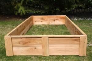 Raised Cedar Garden Bed - 4 x 8 cedar raised bed garden boxes usa made grow your own organic vegetables ebay