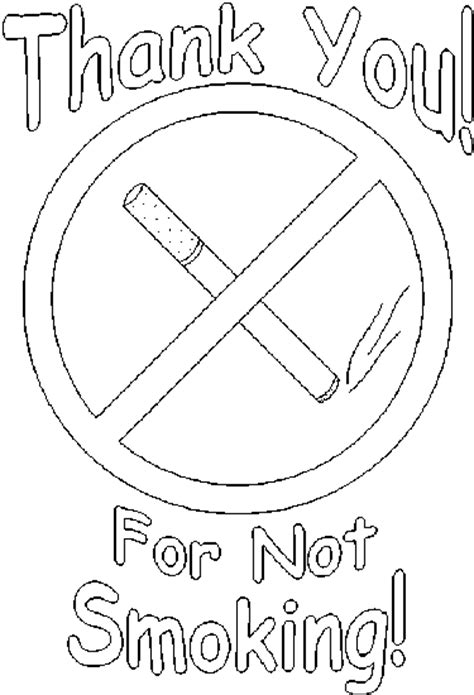 free coloring pages of no smoking
