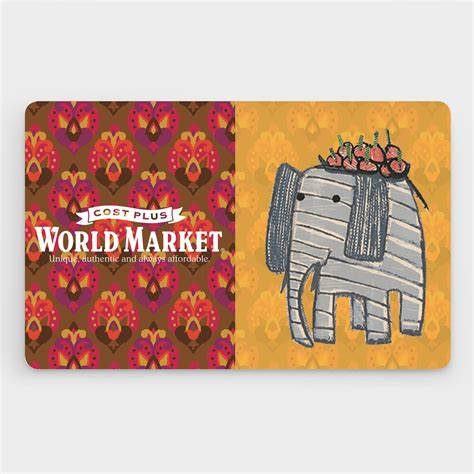 World Gift Card - gift card 25 to 500 world market