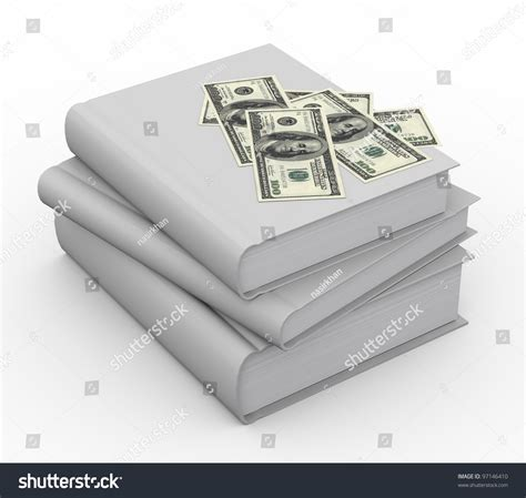 how to stack your money books 3d renders of money on stack of books stock photo 97146410