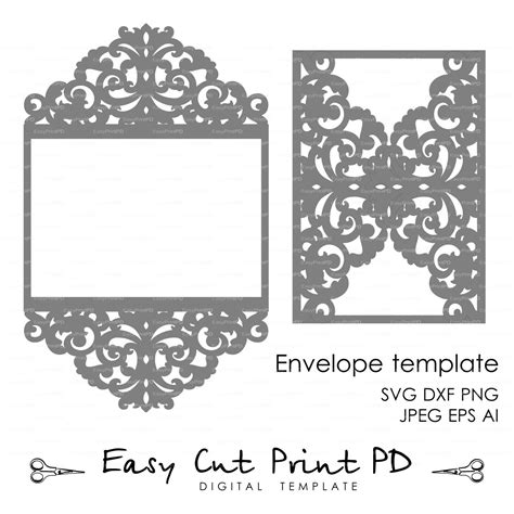 lace templates card wedding invitation pattern card template lace folds