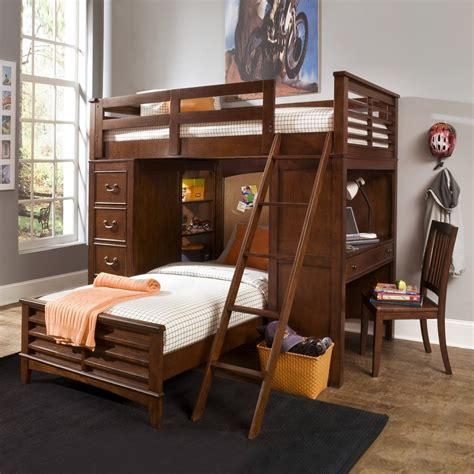 Loft Bed With Built In Desk bunk beds with desk and built in storage kid s room