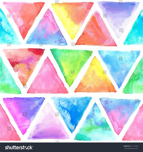 triangle pattern hipster seamless abstract watercolor retro triangular background
