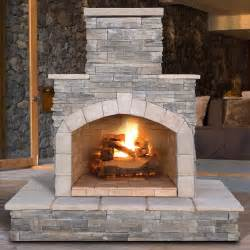 Natural Stone Fireplace Calflame Natural Stone Propane Gas Outdoor Fireplace