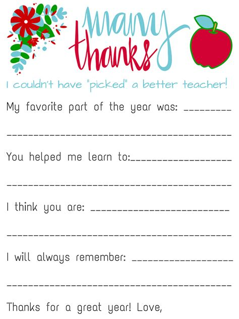 Free Printable Letters Of Appreciation | savvy spending free teacher appreciation personalized card