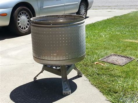 pit made from washing machine pit made out of broken washing machine drum just