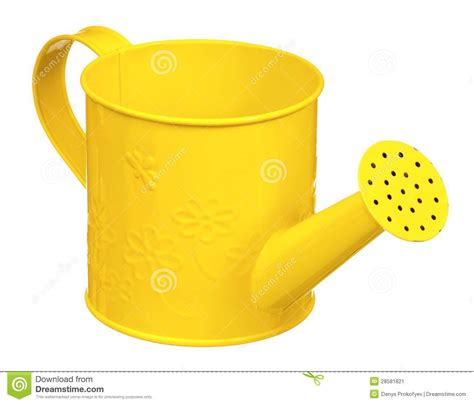 tiny petite small watering can stock image image 28581821