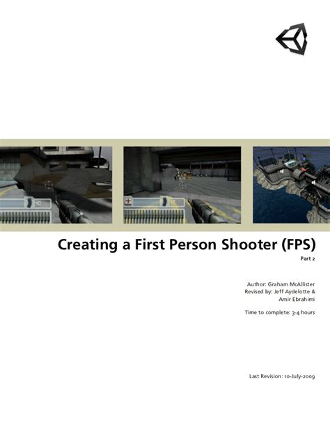 unity tutorial first person shooter fps tutorial 2