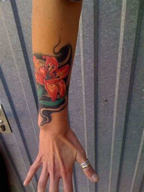 lily tattoos on wrist 36 beautiful hawaiian flower tattoos