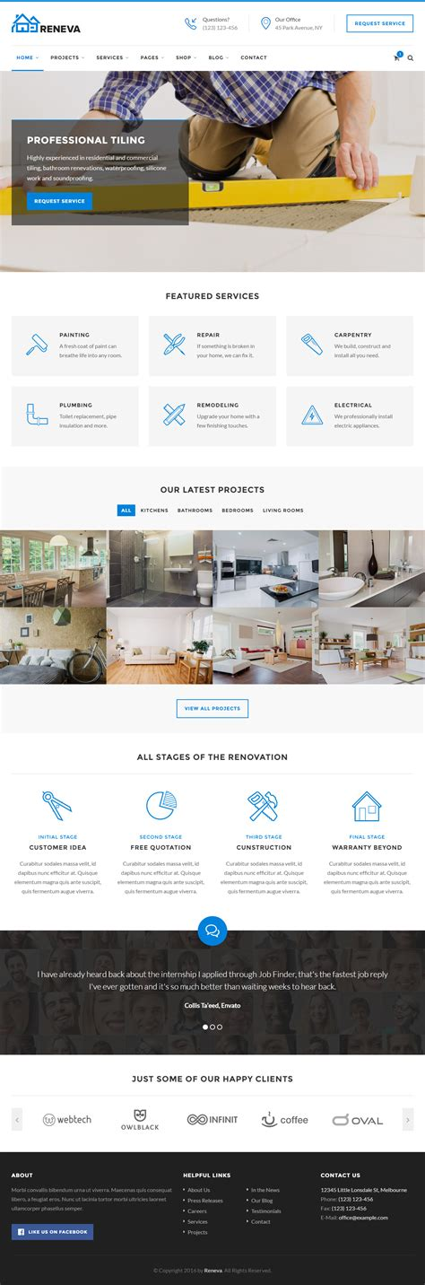responsive website layout 10 best responsive handyman website templates 2017