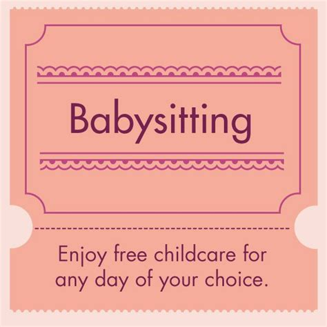 babysitting coupon template s day printable coupons to make s day coupons