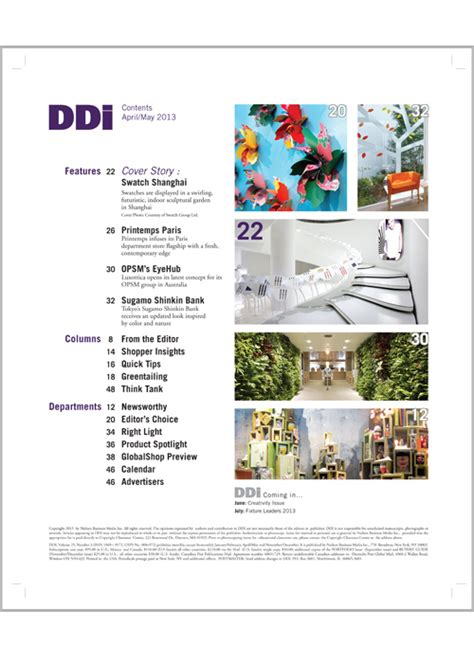 design inspiration table of contents magazine table of contents design