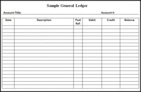 patient ledger card template 9 general ledger templates word excel pdf formats
