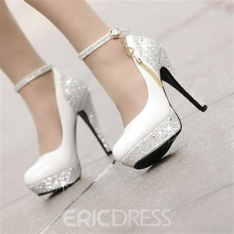 Pretty Wedding Shoes by Pretty High Heels Platform Tassel Wedding Shoes Small One