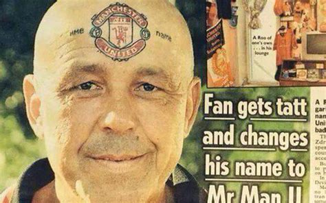 leeds united tattoo man image mad fan changes name to manchester united gets