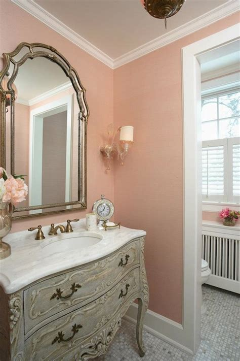 grey and peach bathroom pink and gray bathroom french bathroom rlh studio