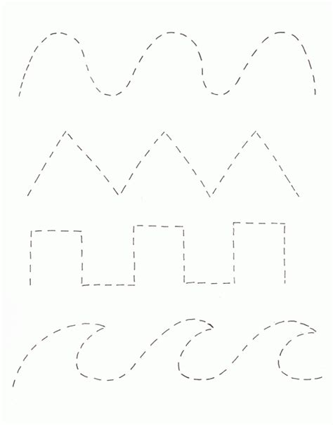 tracing a paper pattern pre k tracing page activities school and worksheets