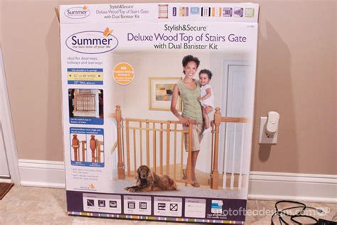 Summer Infant Dual Banister Gate by Baby Proofing Installing The Gate Spot Of Tea Designs