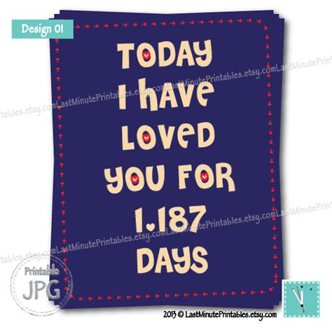 diy anniversary card template today i loved you for you is anniversary gift