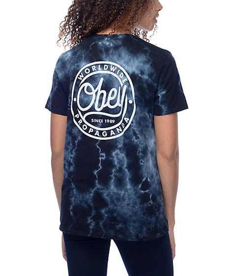 Tshirttshirt Obey obey since 89 black tie dye t shirt at zumiez pdp