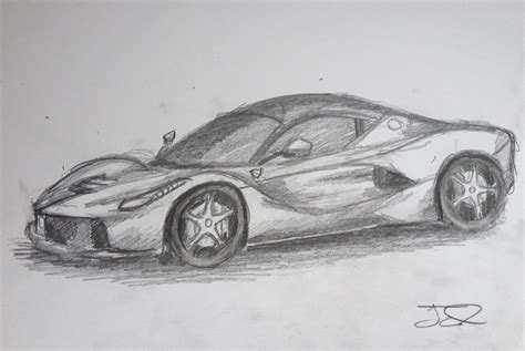 ferrari laferrari sketch how to draw a ferrari laferrari youtube