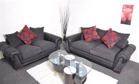 black and red sofa set paprika black and red fabric 3 2 sofa set suite