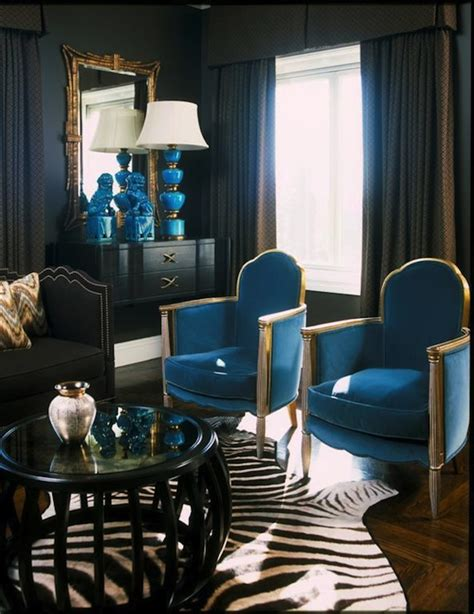 Turquoise And Black Living Room - turquoise velvet chairs contemporary living room