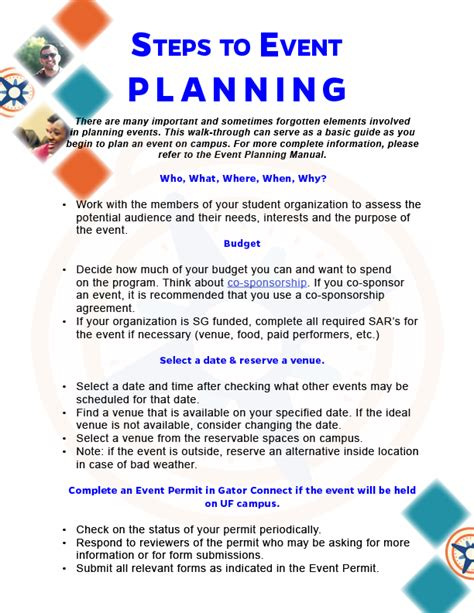 steps to planning office party department of student activities and involvement gt event planning gt event planning step by step