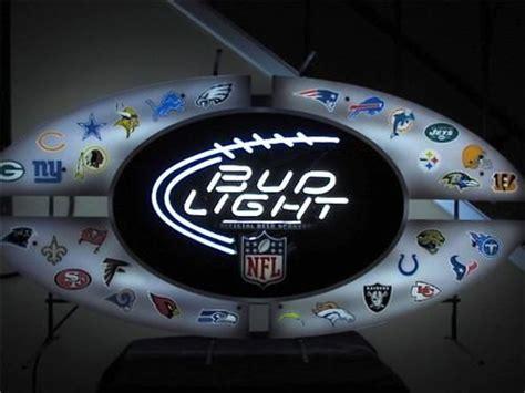bud light nfl neon sign bud light all star nfl neon sign w all team logos for
