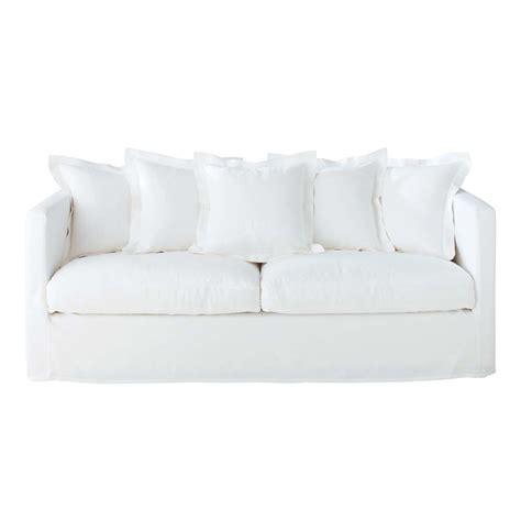 white linen sectional sofa 4 seat sofa in white linen trocadero trocadero maisons