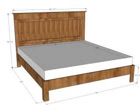 Furniture King Size Bed Dimensions White King Size Fancy Farmhouse Bed Diy Projects