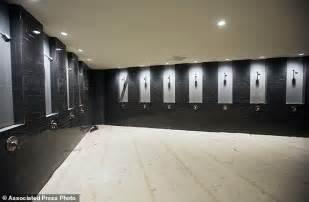 nfl locker room showers high hopes for new high tech atlanta stadium despite delays daily mail