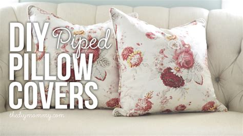 how to make a slipcover for a pillow sew a piped zippered pillow cover video tutorial the