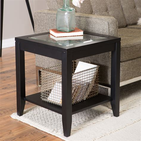 glass top end tables shelby glass top end table with quatrefoil underlay end