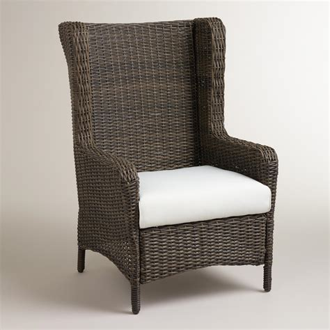 himara all weather wicker wingback chair world market