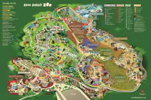 San Diego Zoo Map by Map San Diego Zoo