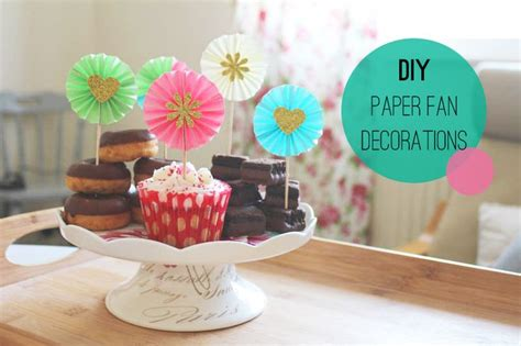 How To Make Paper Fan Decorations - diy paper fan decorations cupcake toppers