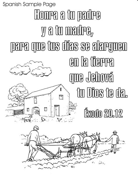 Bible Verse Coloring Pages In Spanish | bible spanish coloring pages free printable spanish