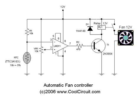temperature controlled computer fan gt circuits gt automatic fan control circuit l23559 next gr