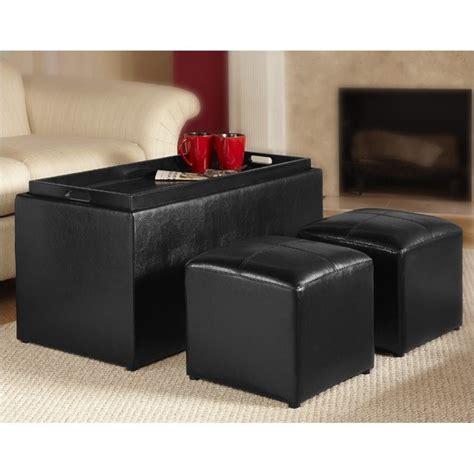 black ottoman storage bench storage bench ottoman in black 143051