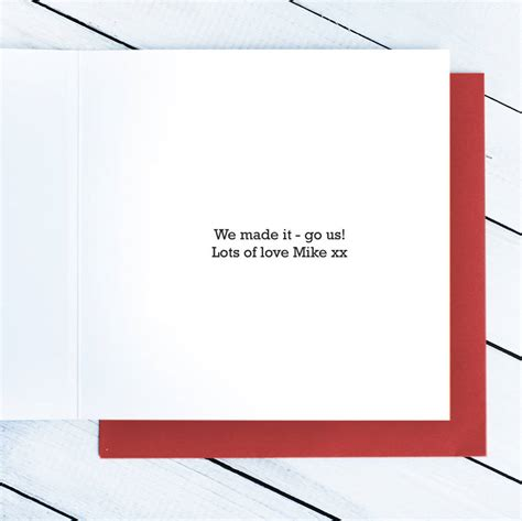 1st Year Wedding Anniversary Card by 1st Year Wedding Anniversary Card By Gift Library