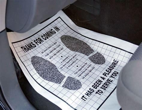 Automotive Paper Floor Mats by Paper Floor Mats With Quot Footprints Quot Professional Detailing