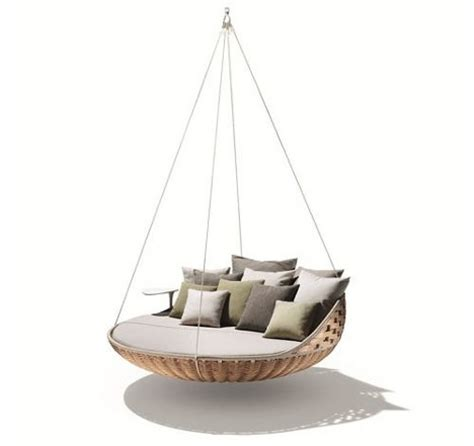 hanging couch swing swing nest rests dynamic duo of outdoor lounging urbanist